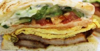 【基隆美食】基隆廟口夜市 碳烤豬排三明治