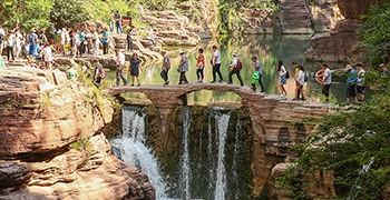 【中國河南旅遊】雲台山景區:紅石峽、潭瀑峽|令人陶醉的石紅水綠