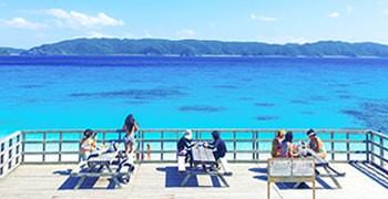 【沖繩座間味島旅遊】古座間味海灘|超美觀景平台&米其林2星海灘