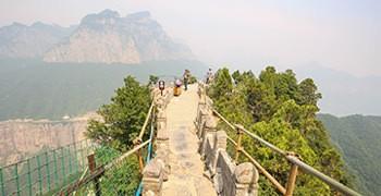 【中國河南旅遊】天界山:雲峰畫廊&老爺頂|一落千丈的紅岩絕壁